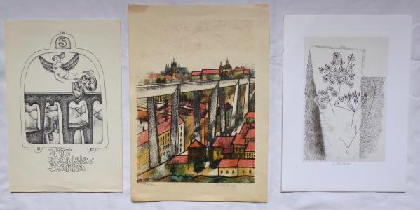 Tři grafiky - Jaroslav Chudomel, Hana Štorchová, PF 76 (1).JPG