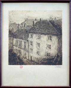 S.G.Maran - Pohled na střechy domů (1).JPG