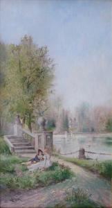 Leopold Burger - Dostaveníčko v zámeckém parku (2).JPG