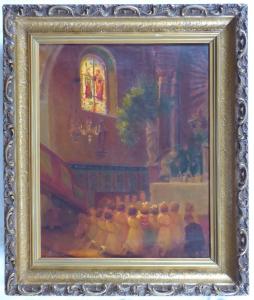 Josef Konečný - Slavnost Božího těla v kostele v Žarošovicích (1).JPG