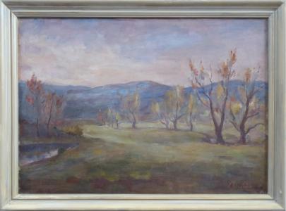 Josef Hlaváček - Podzimní krajina s kopci (1).JPG