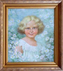 Oldra ( Oldřich ) Vlach - Portrét holčičky (1).JPG