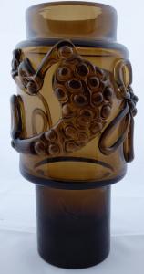 Váza, topasové sklo - Josef Hospodka, Prácheň (1).JPG